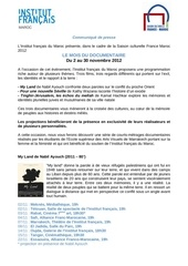 Fichier PDF communique de presse mois du documentaire 2012