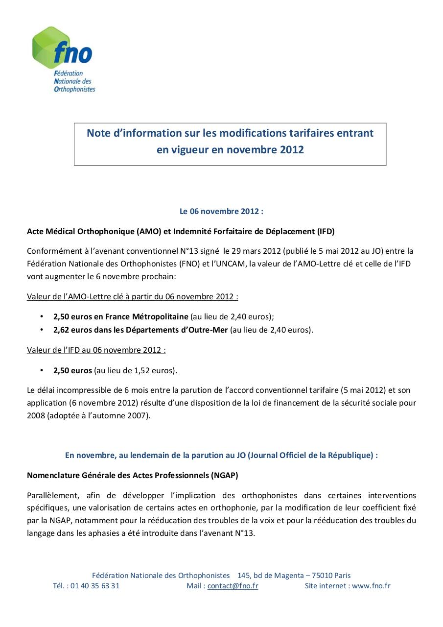 Note dinformation exemple