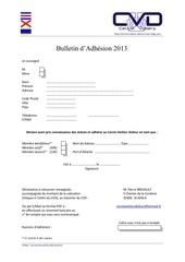 bulletin d adhesion v 2013