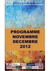 programme nov dec 2012 ifb