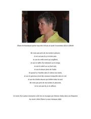 Elaine archambault partie trop tot a 54 ans le lundi 5 novembre 2012 a 20h30