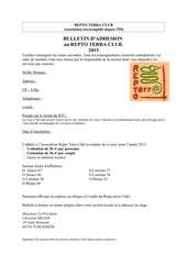 bulletin adhesion rtc 2013