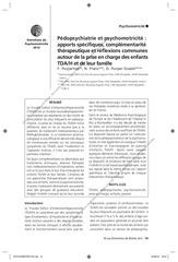 pedopsychiatrie et psychomotricite