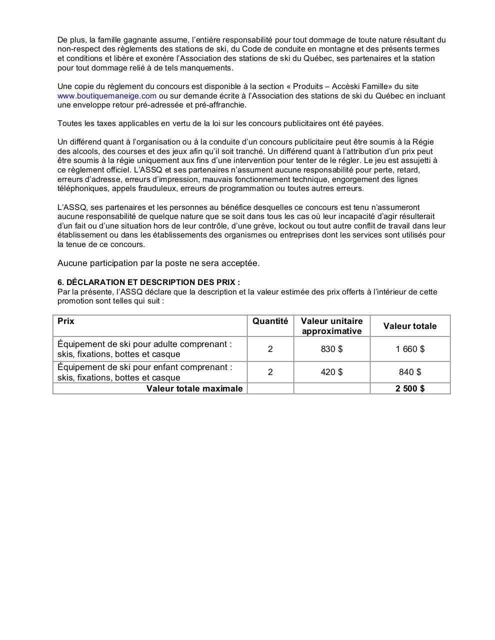 R glement concours acc ski fichier pdf for Reglement interieur entreprise pdf
