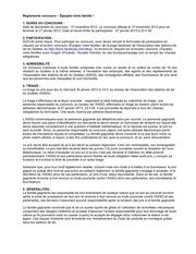 reglement concours acceski 2012