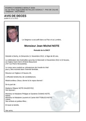 avis deces jean michel