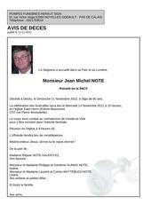 Fichier PDF avis deces jean michel