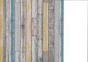 papier imitation bois multicolore