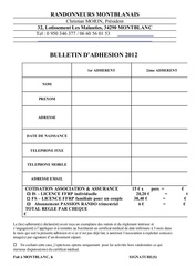 bulletin d adhesion 2012