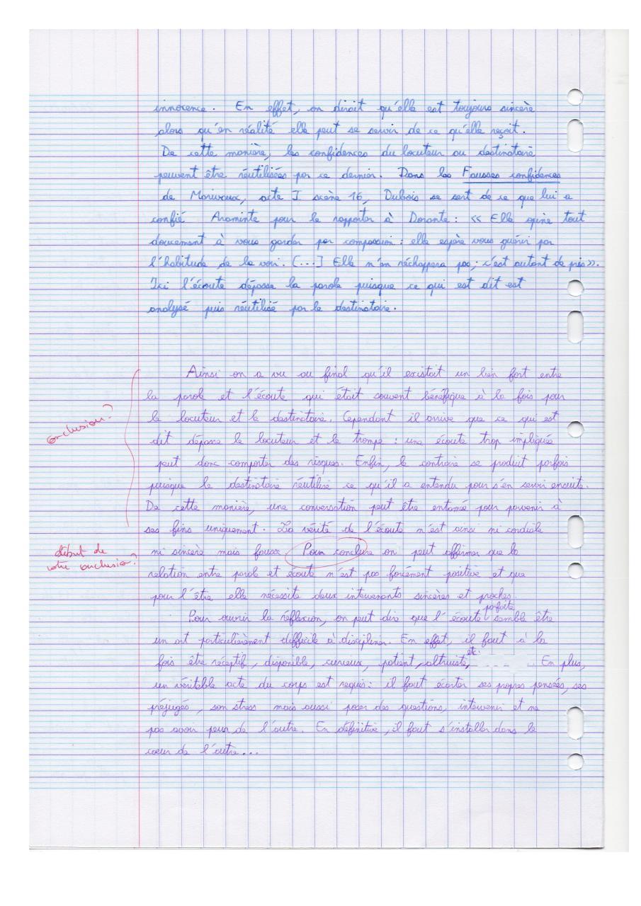 Dissertation de français - Fichier PDF