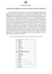 Fichier PDF analyse environnement blogs et sites de mode
