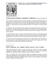campana jovenes por una ciudadania global