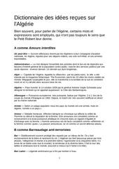 dictionnaire algerien