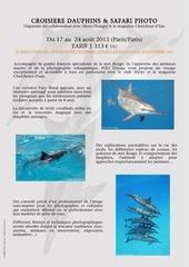 Fichier PDF safari dauphins photo