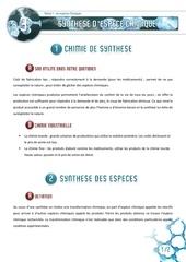 03 synthese d espece chimique