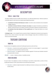 04 utilisation d un oscilloscope