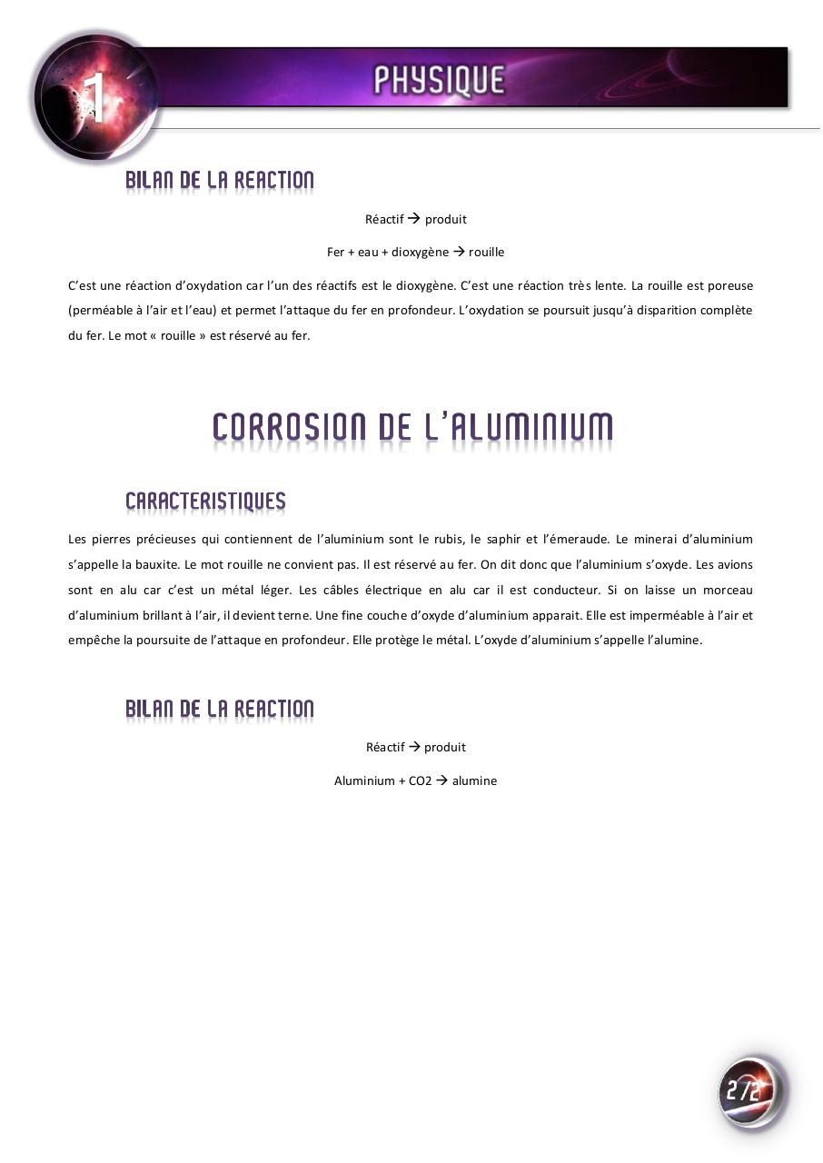 05 corrosion du fer et de l 39 aluminium par david fichier pdf - Faire briller aluminium oxyde ...