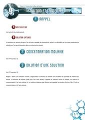 09 solution et concentration
