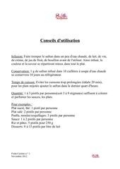 fiche cuisine 1 novembre 2012 1