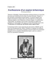 confessions d un espion britannique le devoilement de la secte wahabite