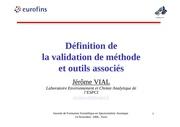 vial validation definition et outils