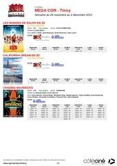 cinema mega cgr torcy semaine du 28 novembre au 4 decembre 2012