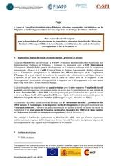 plan de travail sectoriel maroc 1
