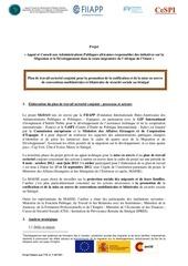 Fichier PDF plan de travail sectoriel senegal