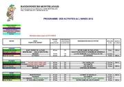 2012 planning activites