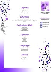 Fichier PDF cv english