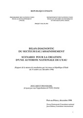 Fichier PDF eau en ha ti scenario pour la creation d une autorite nationale