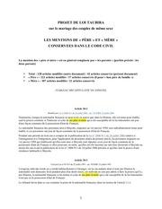 les mentions de pere et mere conservees dans le code civil
