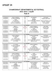 Fichier PDF calendrier et rsultats la 5 journe aller poule b