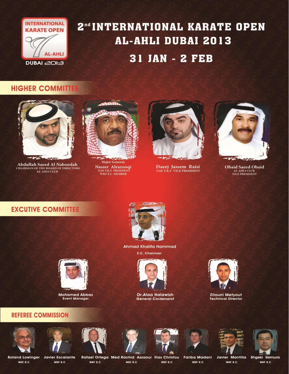 the Bulletin of the 2nd international karate open al-ahli Dubai 2013.pdf - page 3/21