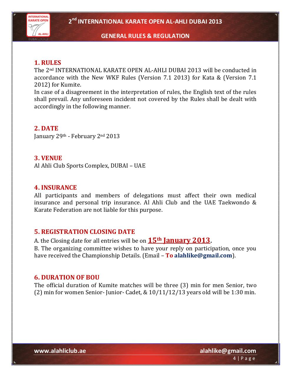 the Bulletin of the 2nd international karate open al-ahli Dubai 2013.pdf - page 4/21