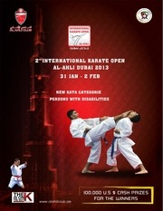 the bulletin of the 2nd international karate open al ahli dubai