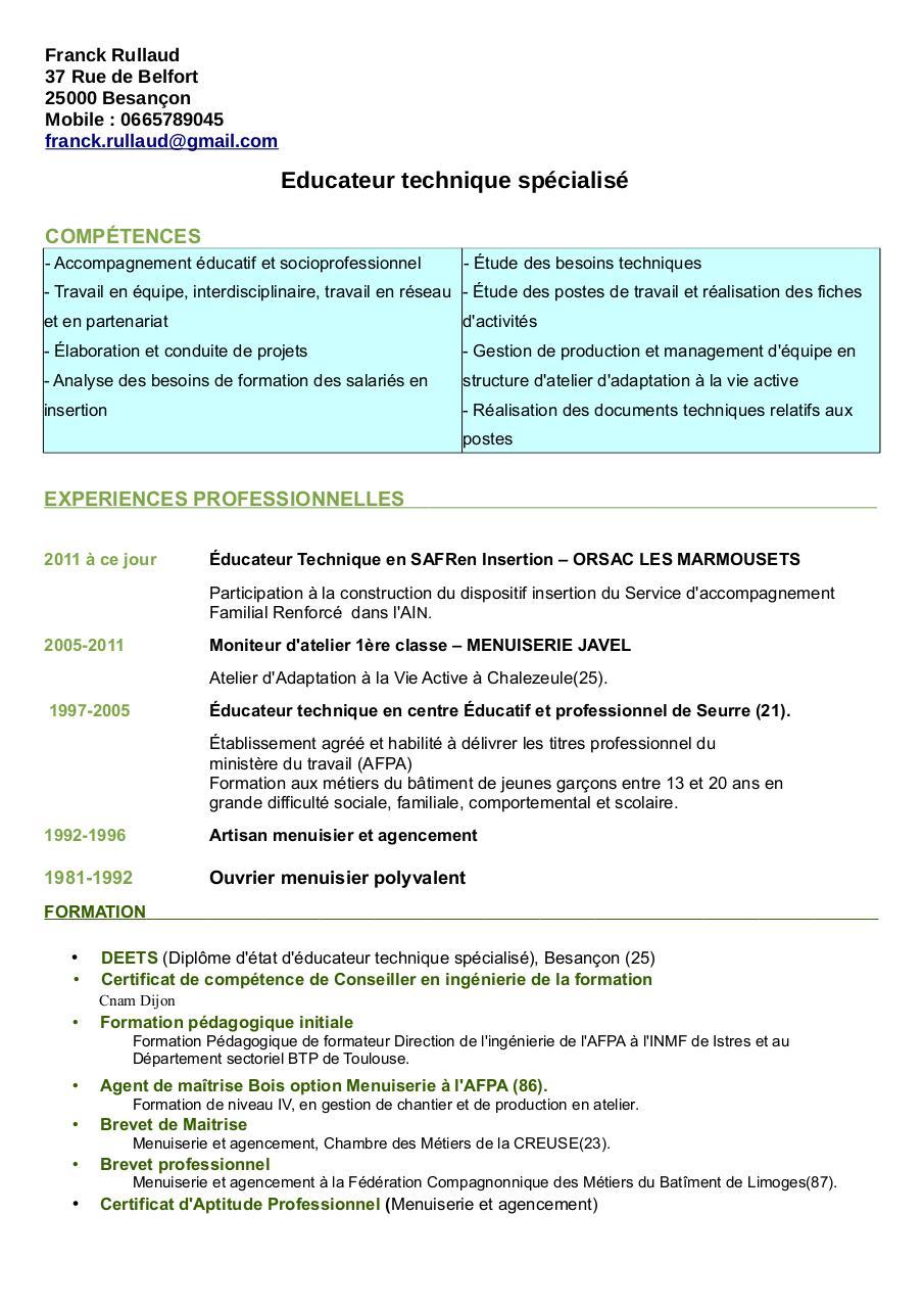 cv deets2 pdf par franck rullaud