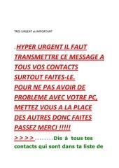tres urgent et important virus