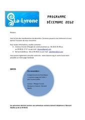 programme decembre 2012