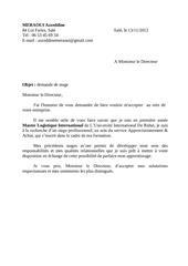 Fichier PDF demande de stage