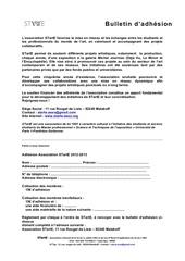 modele bulletin d adhesion 2012