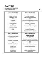 menus decembre 2012