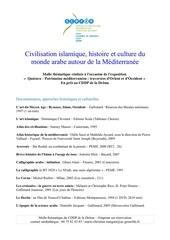 civilisation islamique histoire et culture du monde arabe autour de