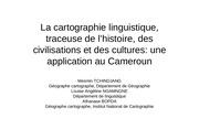 la cartographie linguistique traceuse de l histoire des civilisations