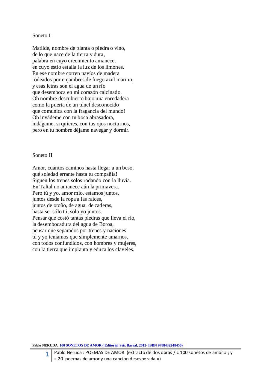 Aperçu Du Fichier Pablo Neruda 1 Poemas De Amor Pablo