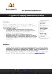 stage de chargee de communication