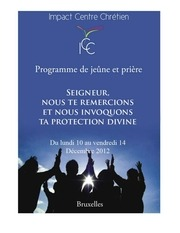 livret de jeune et priere icc bruxelles decembre 2012 v4