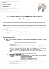 ingenieur etude et developpement net c sharepoint