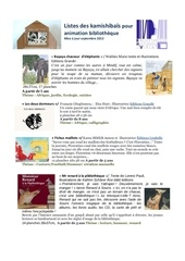 listes des kamishibaes appartenant a la bibliotheque de viriat
