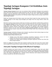 Fichier PDF topologi jaringan komputer dan ciri kelebihan jenis topologi jaringan